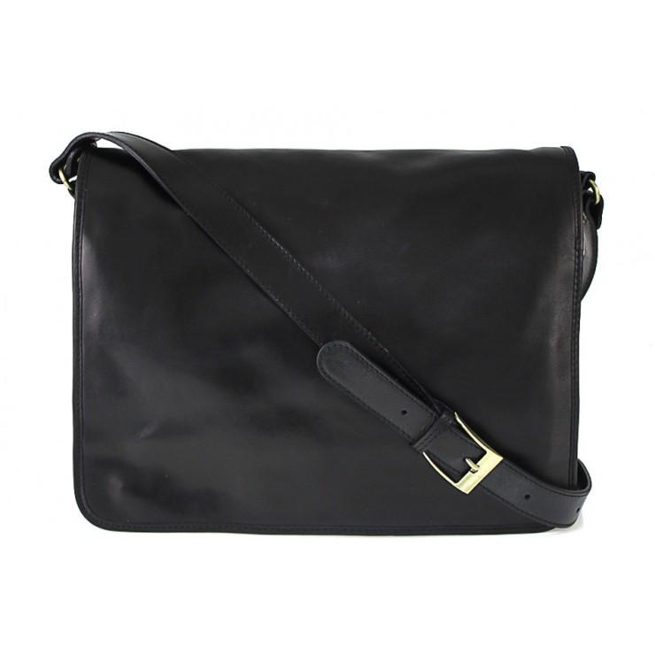 Pánska kožená taška na rameno 316 čierna MADE IN ITALY