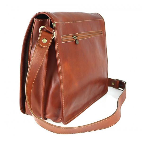 Pánska kožená taška na rameno 316 čierna MADE IN ITALY Čierna