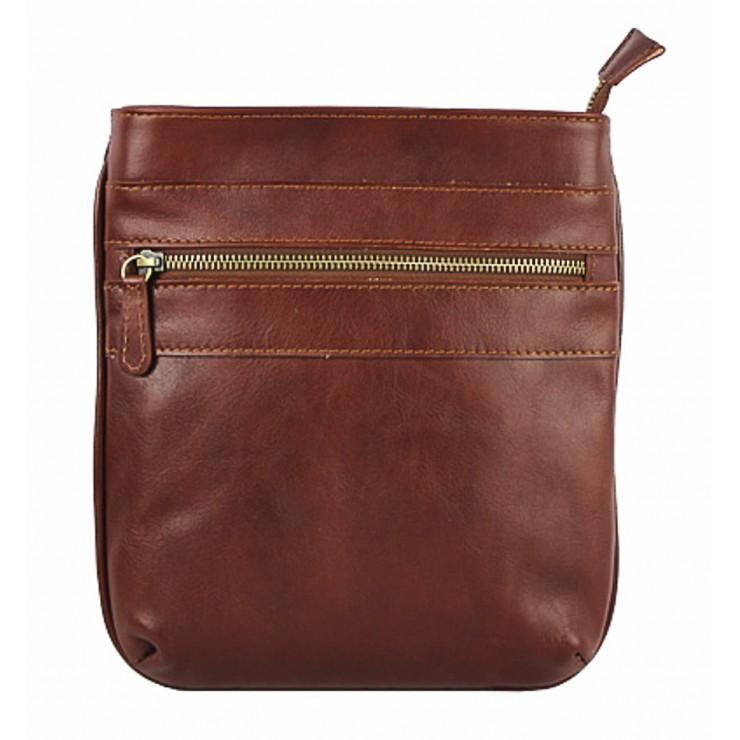 Pánska kožená taška na rameno 602 hnedá