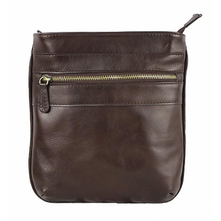 Pánska kožená taška na rameno 602 tmavohnedá