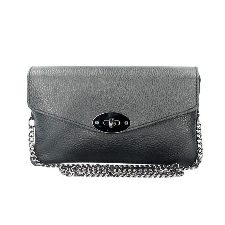 Čierna kožená kabelka na rameno 515