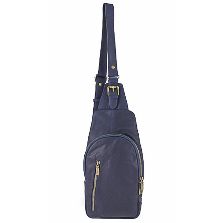 Pánska kožená taška cez rameno 373A modrá