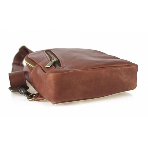 Pánska kožená taška cez rameno 990 modrá Modrá