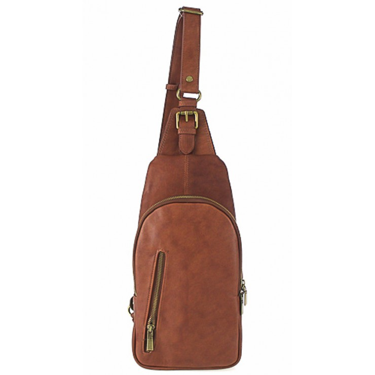 Genuine Leather Strap bag 373A brown