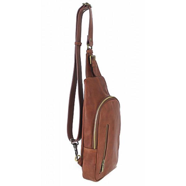 Pánska kožená taška cez rameno 990 hnedá Hnedá