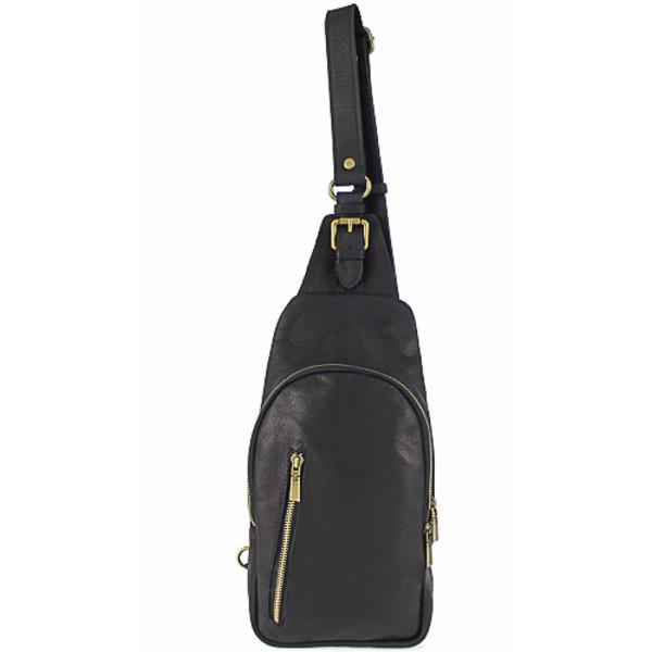 Pánska kožená taška cez rameno 990 čierna Čierna