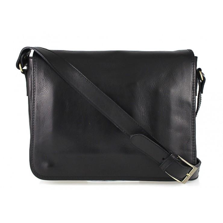 Pánska kožená taška na rameno 234 čierna MADE IN ITALY