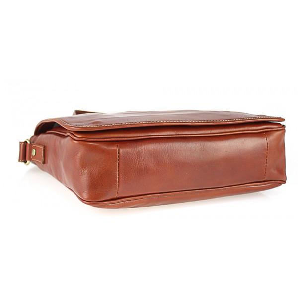 Pánska kožená taška na rameno 234 červená MADE IN ITALY Červená