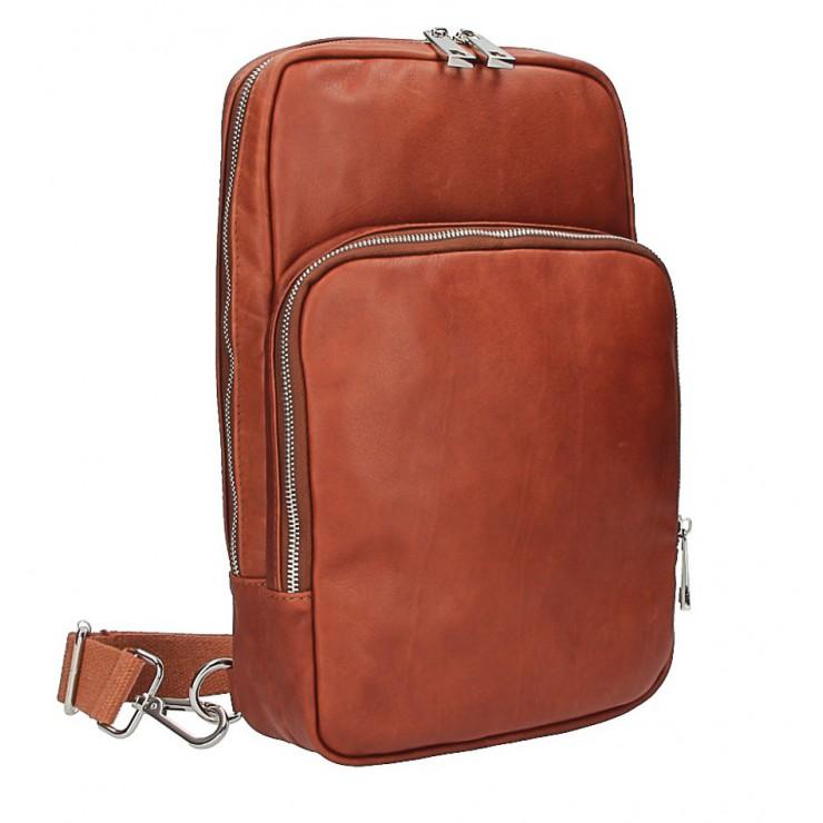Kožený batoh na rameno hnědý