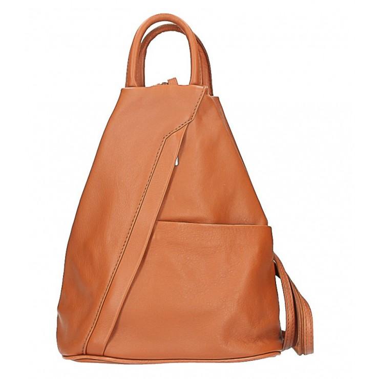 Kožený batoh koňakový