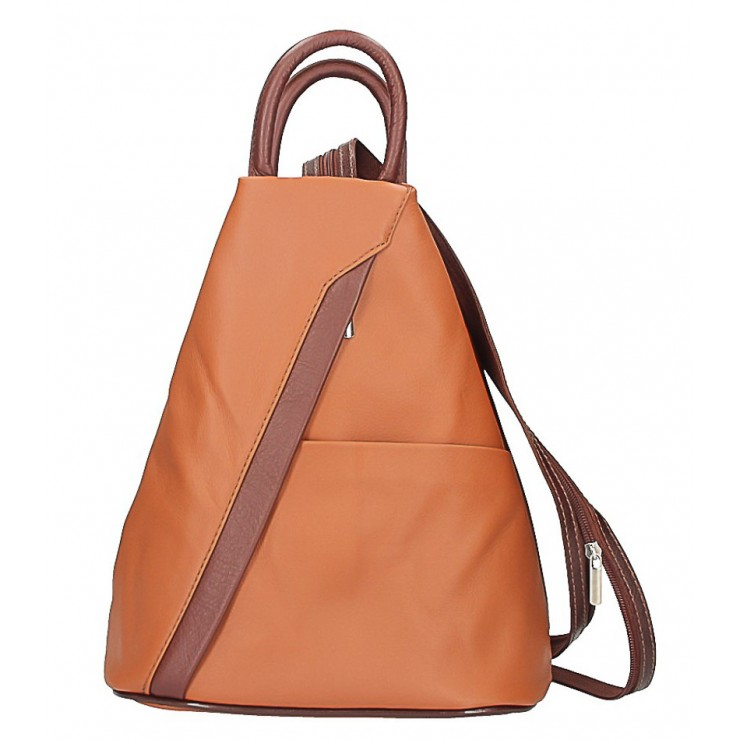 Leather backpack cognac + marrone