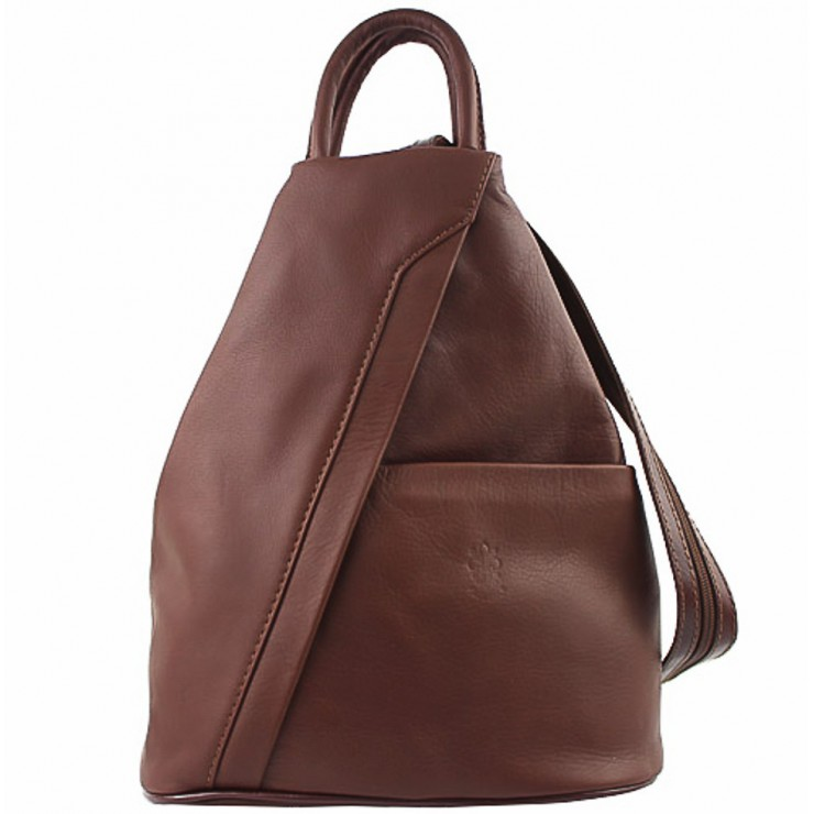 Dámsky kožený batoh hnedý Made in Italy