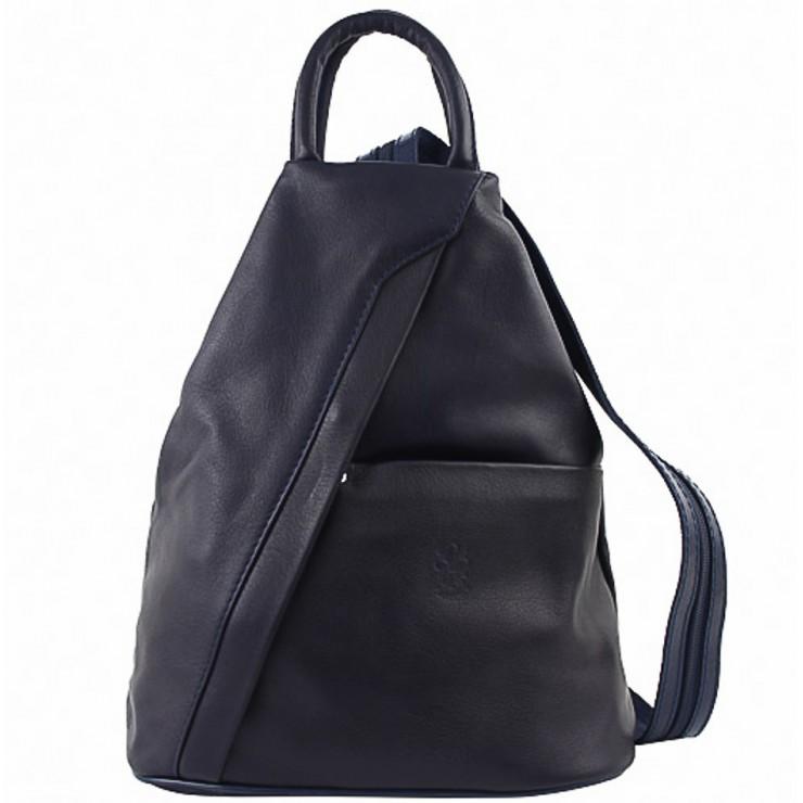 Kožený batoh modrý