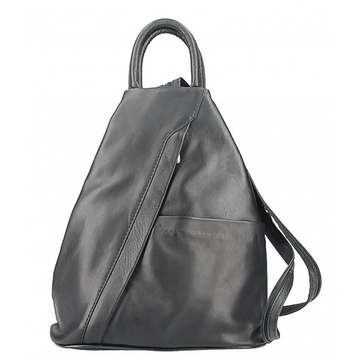 Kožený batoh čierny