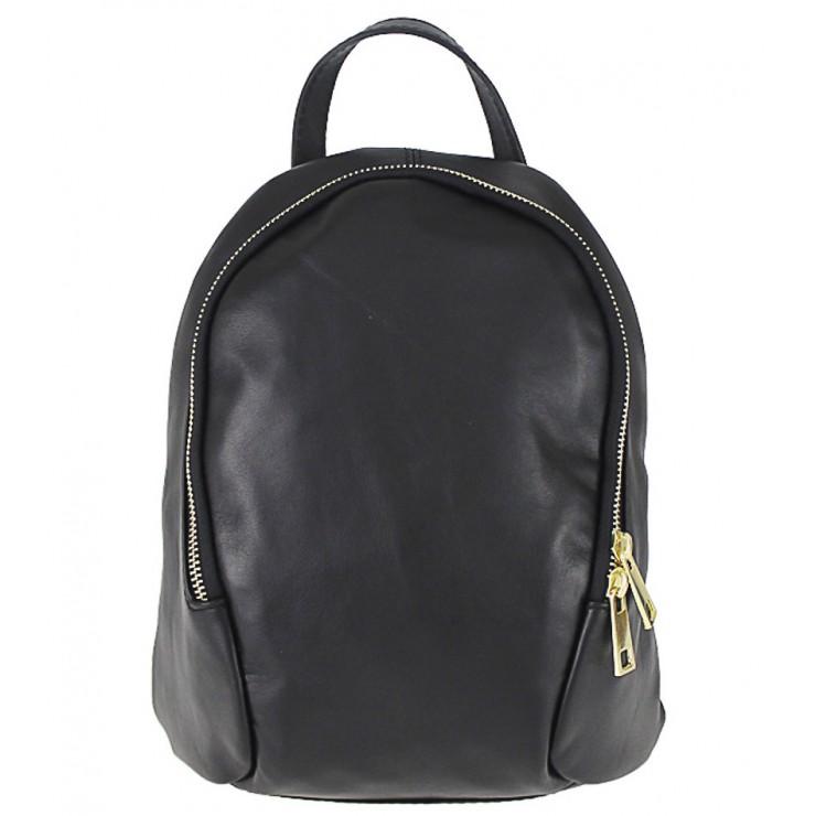 Kožený batoh 1483 Made in Italy čierny
