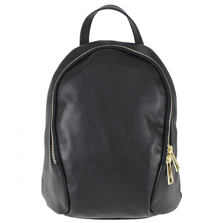 Leather backpack 1483 Made in Italy black