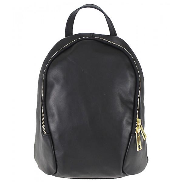 1a9ddb8271 Kožený batoh 1483 Made in Italy čierny - MONDO ITALIA s.r.o.
