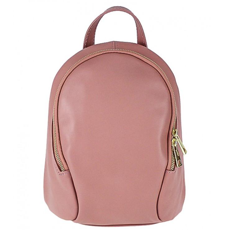 Kožený batoh 1483 Made in Italy ružový