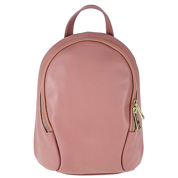 Leather backpack 1483 Made in Italy pink