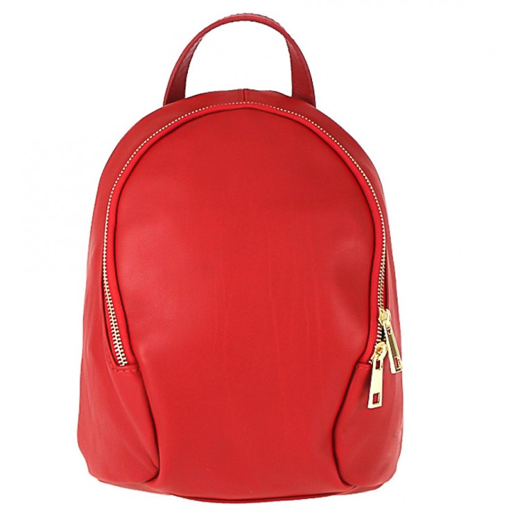 Leather backpack 1483 Made in Italy red
