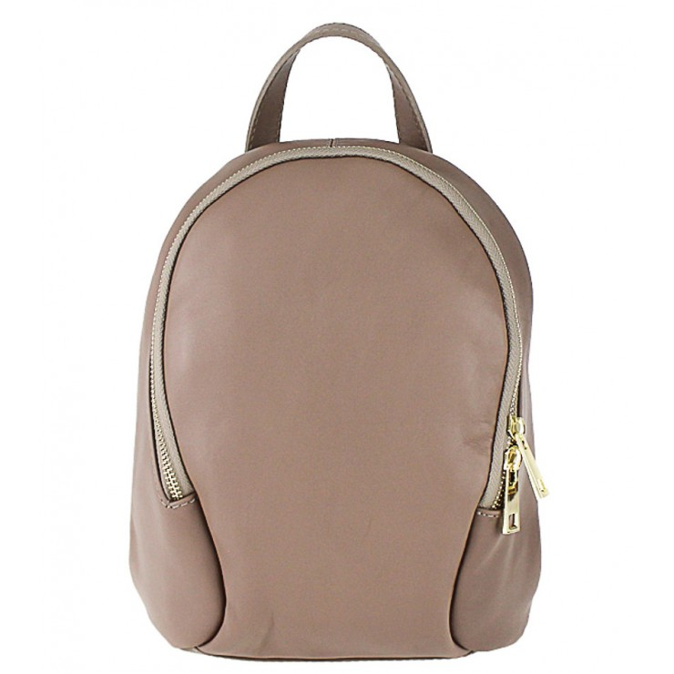 Leather backpack 1483 Made in Italy taupe