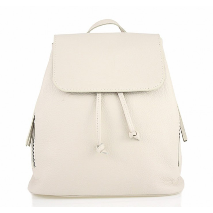 Leather backpack 420 Made in Italy beige
