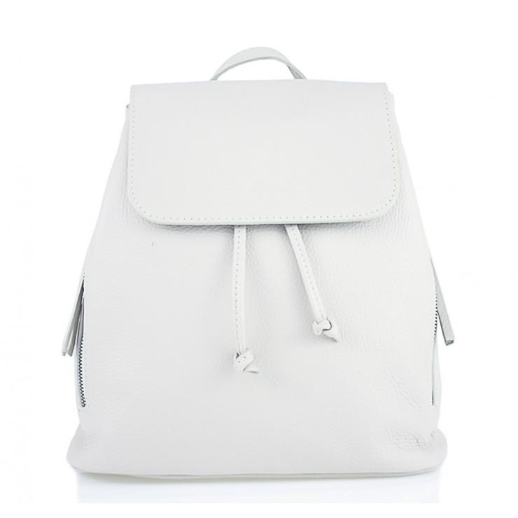 Dámsky kožený batoh 420 Made in italy biely
