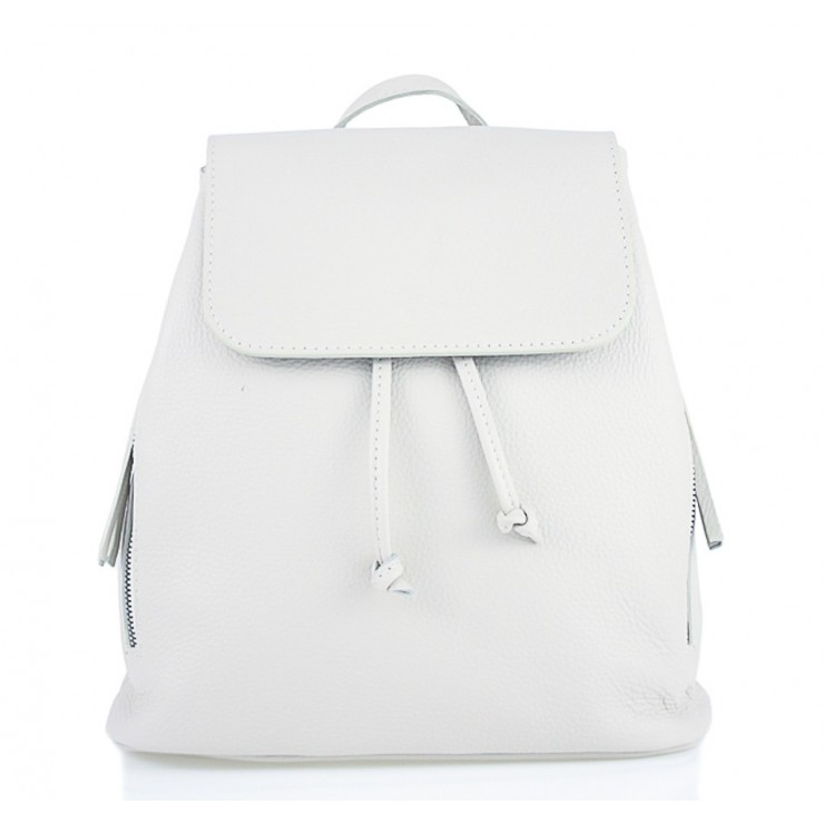 Leather backpack 420 Made in Italy white