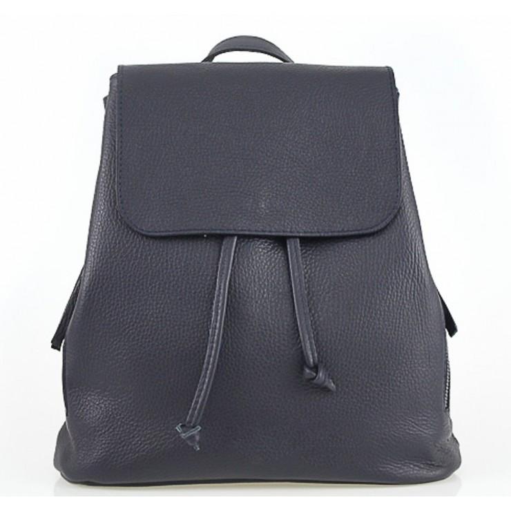 Dámsky kožený batoh 420 Made in italy modrý