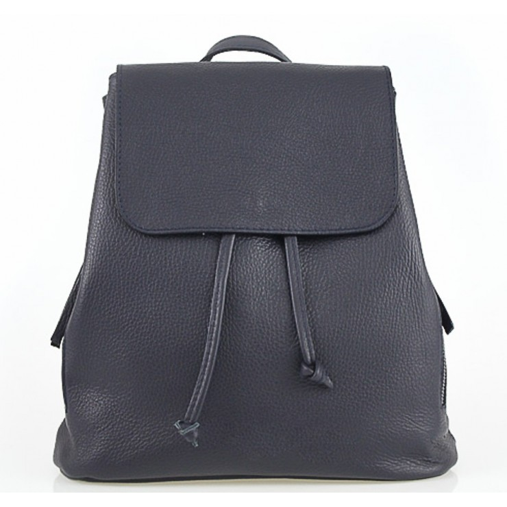Leather backpack 420 Made in Italy blue