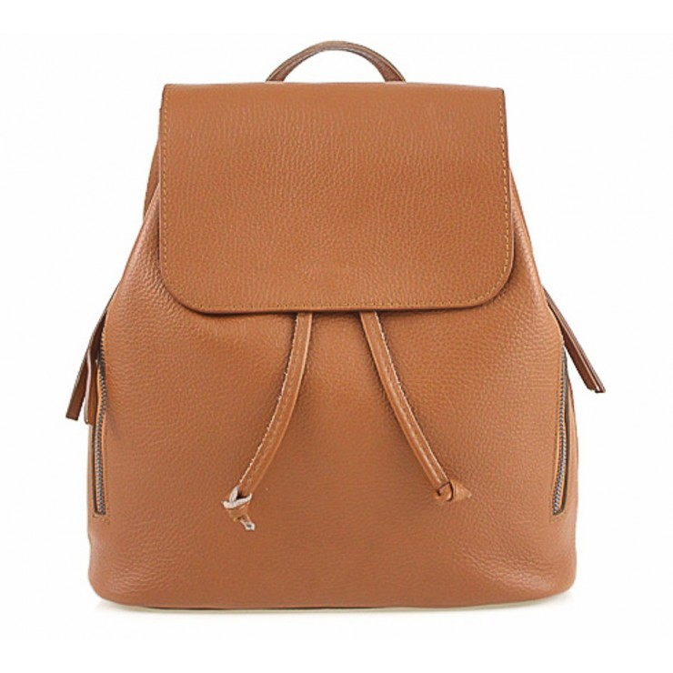 Leather backpack 420 Made in Italy cognac