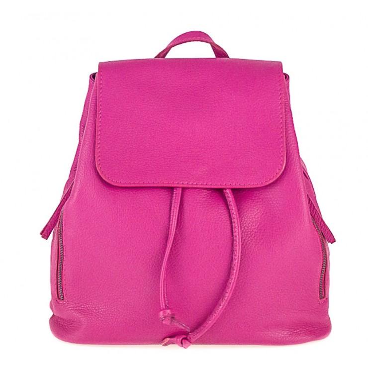 Dámsky kožený batoh 420 Made in italy fuchsia
