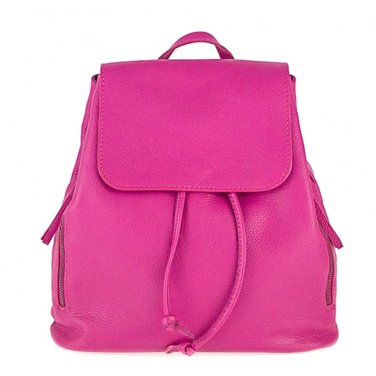 Leather backpack 420 Made in Italy fuxia