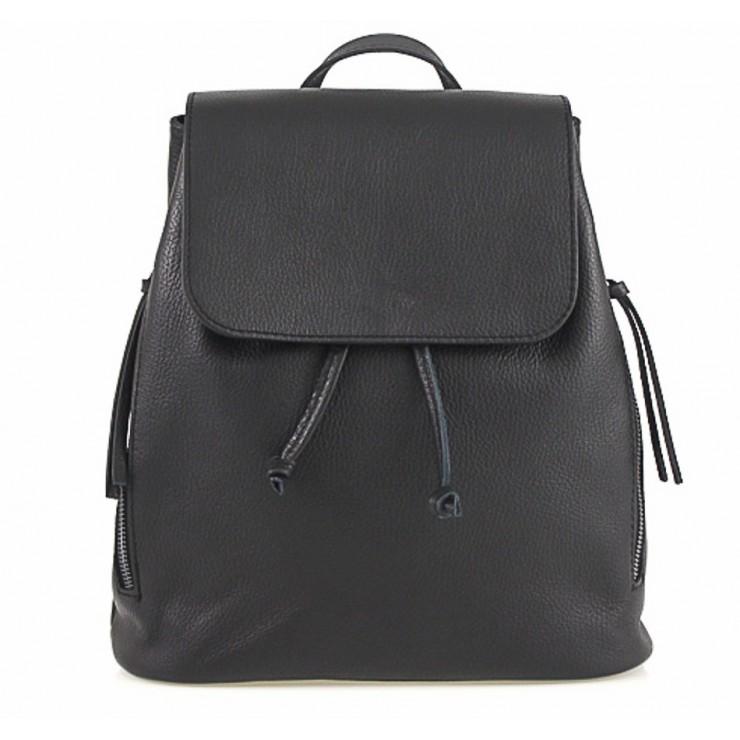 Dámsky kožený batoh 420 Made in italy čierny