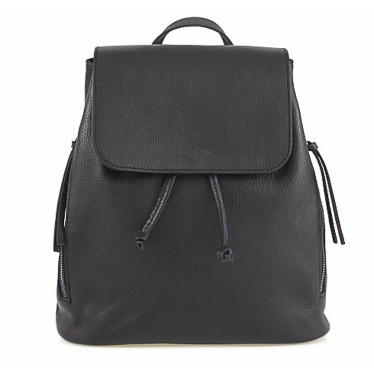Leather backpack 420 Made in Italy black