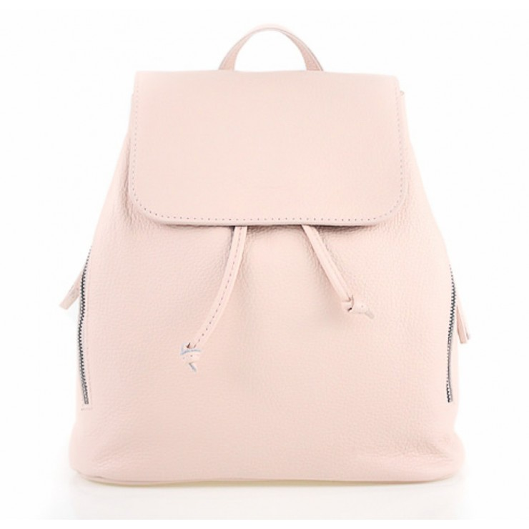 Leather backpack 420 Made in Italy pink