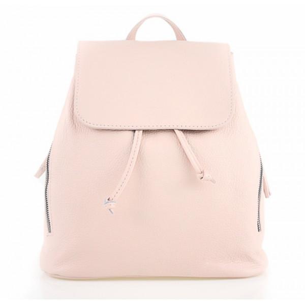 ef4b2f58cb Dámsky kožený batoh 420 Made in italy ružový - MONDO ITALIA s.r.o.