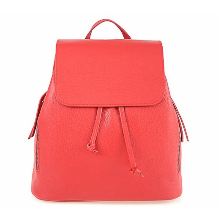 Dámsky kožený batoh 420 Made in italy červený