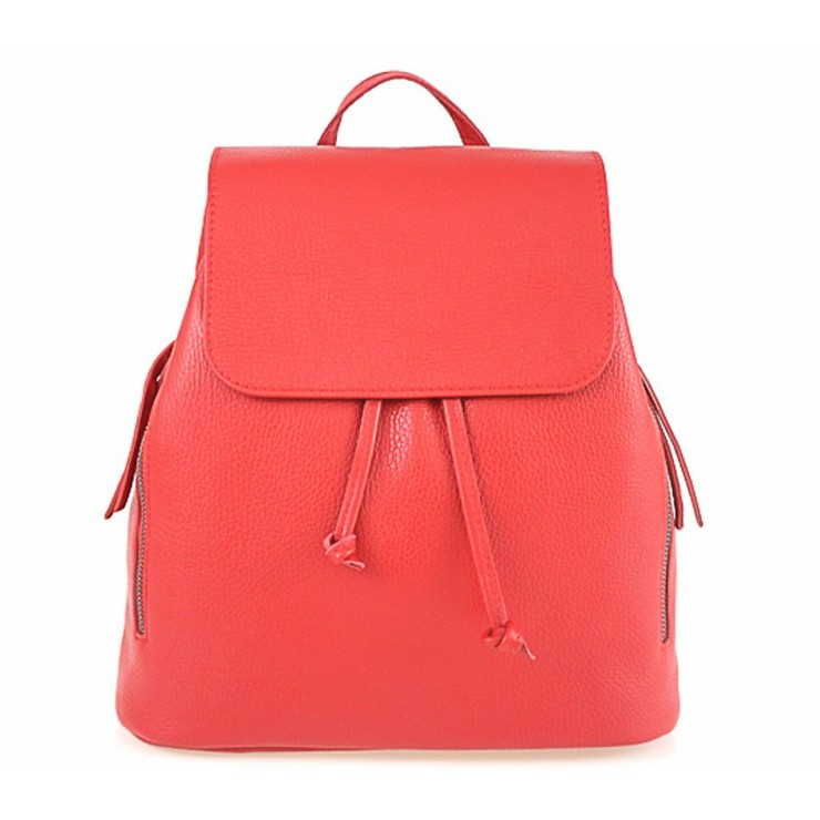 Leather backpack 420 Made in Italy red