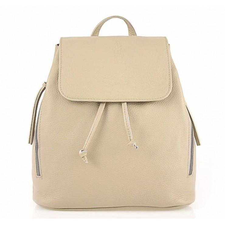 Dámsky kožený batoh 420 Made in italy šedohnedý