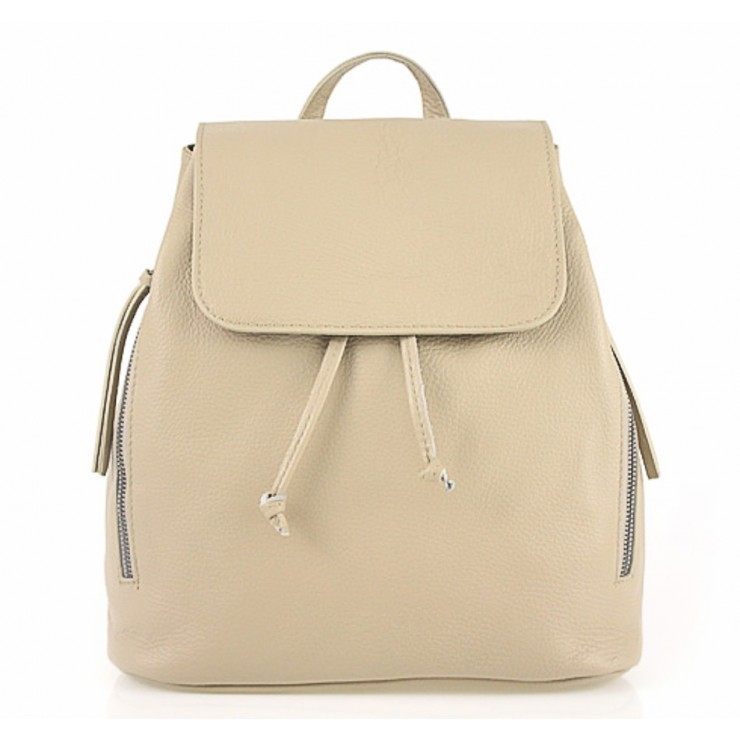 Leather backpack 420 Made in Italy taupe