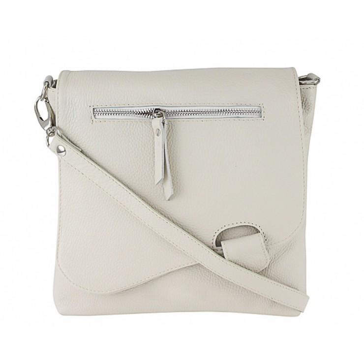 4bed3f6306 Kožená kabelka na rameno 485 Made in Italy béžová