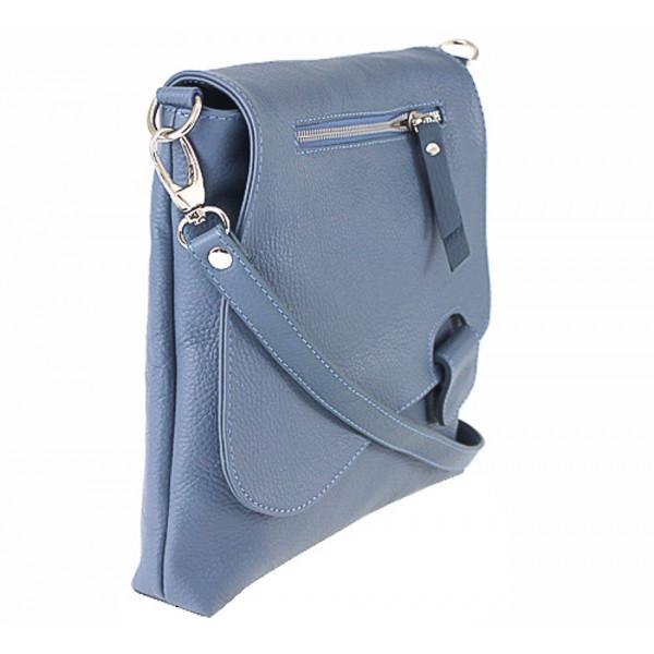 Kožená kabelka na rameno 485 Made in Italy okrová