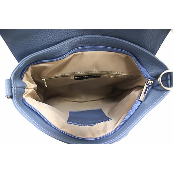 Kožená kabelka na rameno 485 Made in Italy šedohnedá Šedohnedá