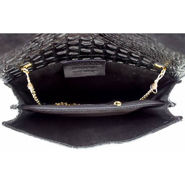 Kožená kabelka 1251 Made in Italy koňaková Koňak