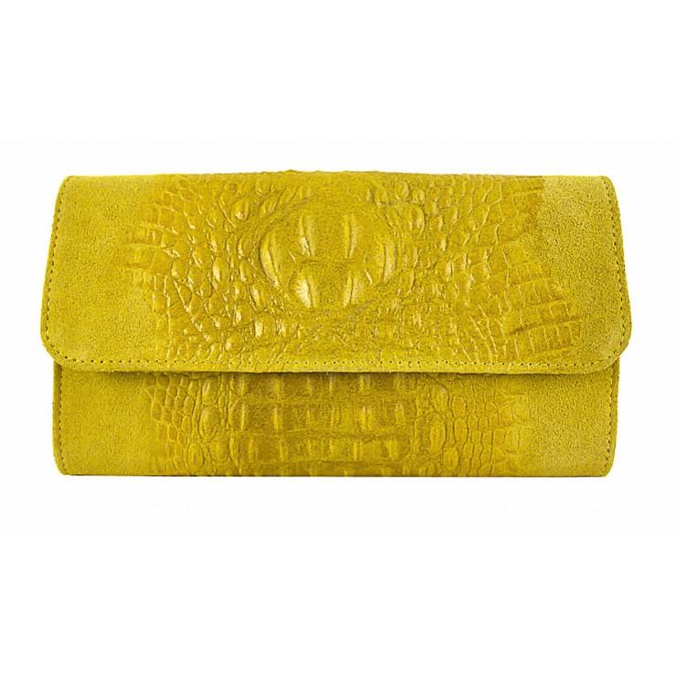 Kožená kabelka 1251 Made in Italy žltá