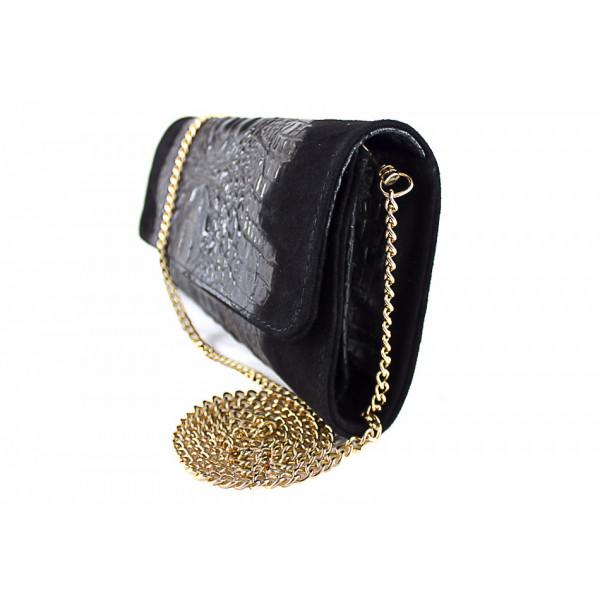 Kožená kabelka 1251 Made in Italy žltá Žltá