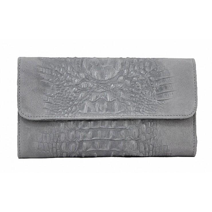 Kožená kabelka 1251 Made in Italy šedá