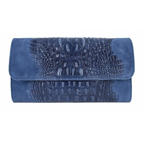 Kožená kabelka 1251 Made in Italy jeans Jeans