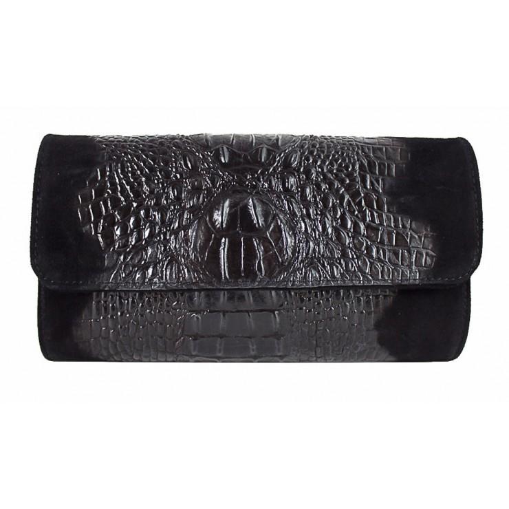 Kožená kabelka 1251 Made in Italy čierna